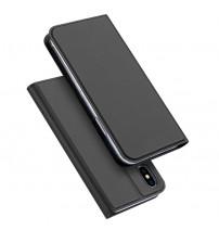 Husa iPhone X tip carte Dux Ducis Skin Pro, Black