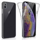 Husa iPhone XS TPU Full Cover 360 (fata+spate), Transparenta