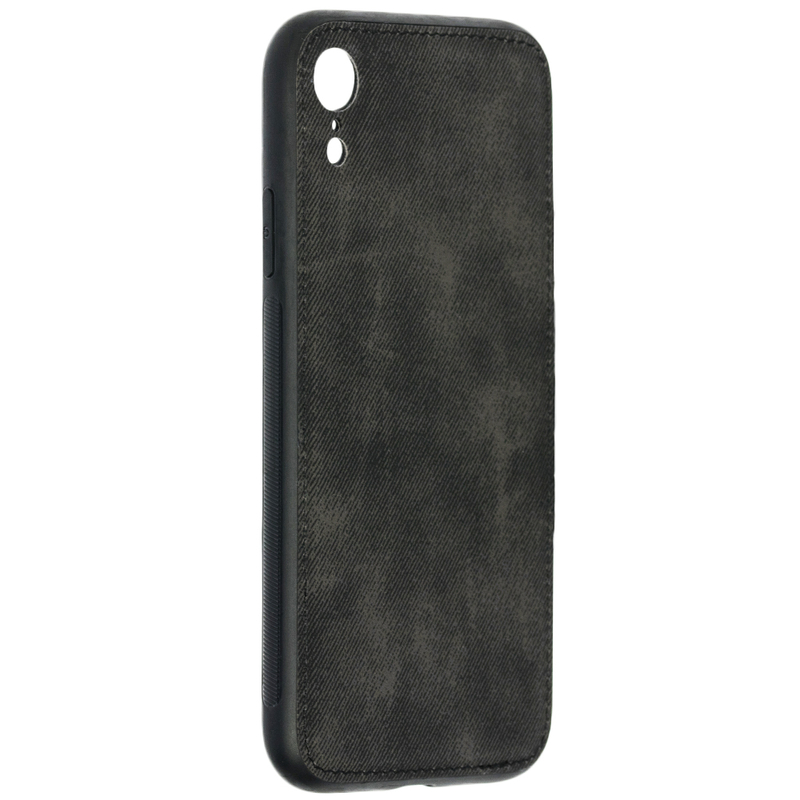 Husa iPhone XR Denim Magnet TPU, Black - TemperedGlass.ro