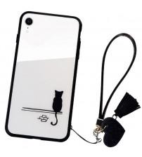 Husa iPhone XR Glass Back, Cat