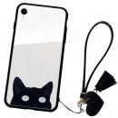 Husa iPhone XR Glass Back, Cat Eyes