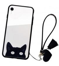 Husa iPhone XR Glass Back, Cat Eyes