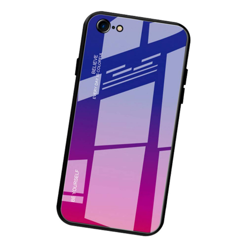Husa iPhone 8 Gradient Glass, Blue-Purple - TemperedGlass.ro
