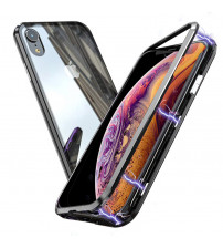 Husa iPhone XR Magnetic Clear-Black