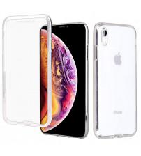 Husa iPhone XR TPU Full Cover 360 (fata+spate), Transparenta