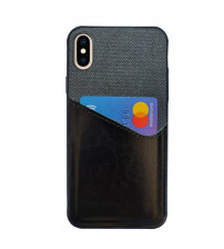 Husa iPhone XS Card Pocket, Black