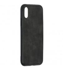 Husa iPhone X Denim Magnet TPU, Black