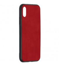 Husa iPhone XS Denim Magnet TPU, Red