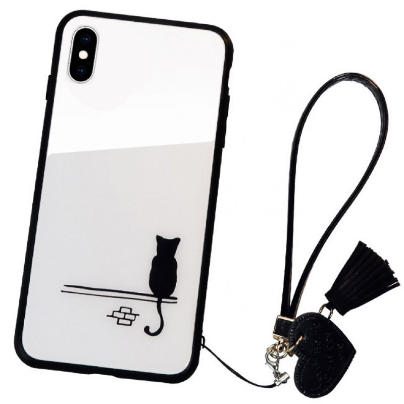 Husa iPhone XS Glass Back, Cat - TemperedGlass.ro