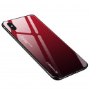 Husa iPhone X Gradient Glass, Red-Black