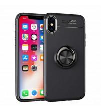 Husa iPhone XS Magnet Round Ring, Black