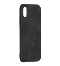 Husa iPhone XS Max Denim Magnet TPU, Black