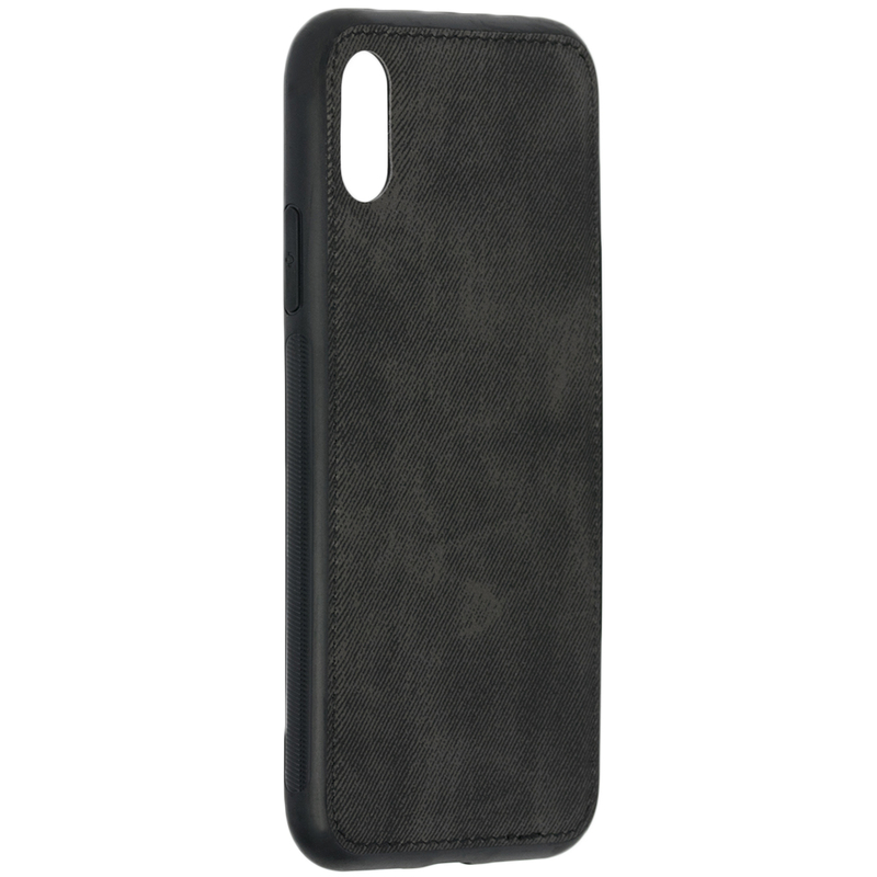 Husa iPhone XS Denim Magnet TPU, Black - TemperedGlass.ro