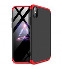 Husa iPhone XS Max GKK Full Cover 360, Black-Red