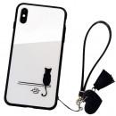 Husa iPhone XS Glass Back, Cat