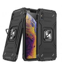 Husa iPhone XS Max Wozinsky Ring Armor Rugged, Black