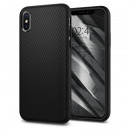Husa iPhone XS originala SPIGEN Liquid Air, Matte Black