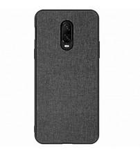 Husa OnePlus 6 Denim Magnet TPU, Black