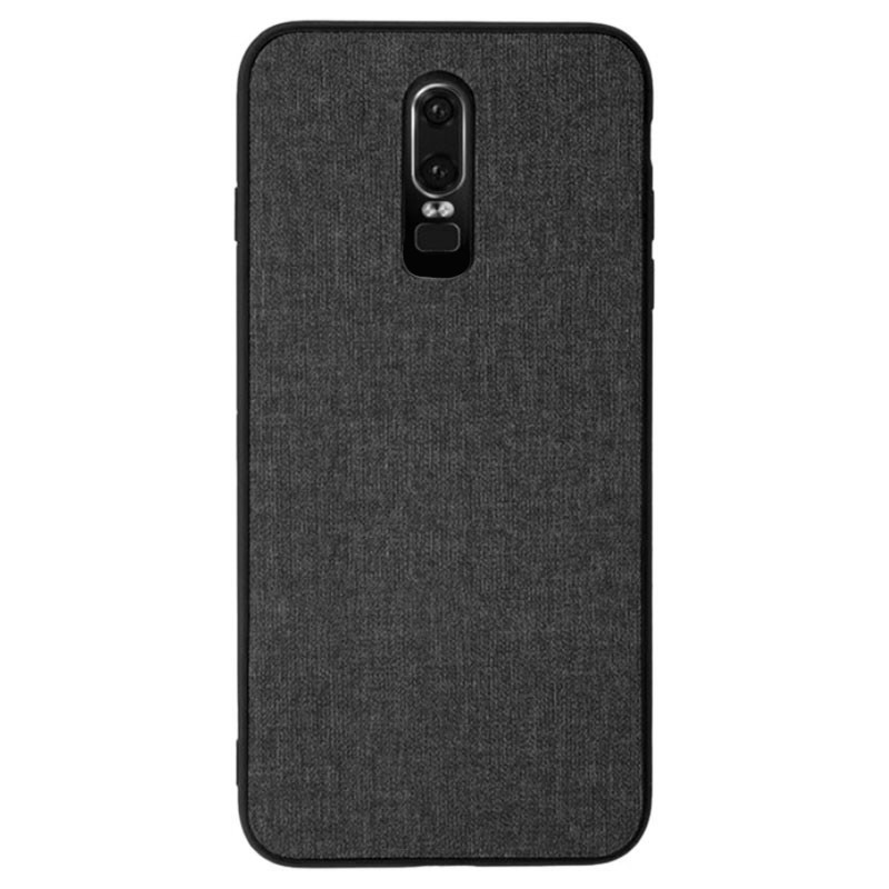 Husa OnePlus 6T Denim Magnet TPU, Black - TemperedGlass.ro
