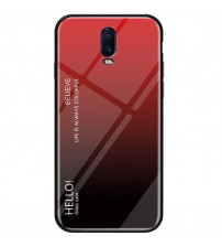 Husa OnePlus 6T Gradient Glass, Red-Black