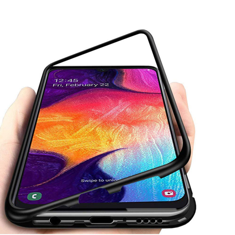 Husa OnePlus 7 Magnetic, Clear-Black - TemperedGlass.ro