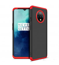 Husa OnePlus 7T GKK Full Cover 360, Black-Red