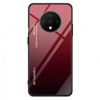 Husa OnePlus 7T Gradient Glass, Red-Black