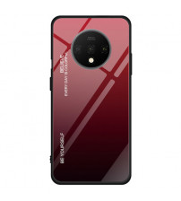 Husa OnePlus 7T Gradient Glass, Red-Black