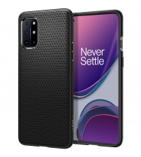 Husa OnePlus 8T originala SPIGEN Liquid Air, Matte Black
