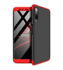 Husa Samsung A7 2018 GKK Full Cover 360, Black-Red