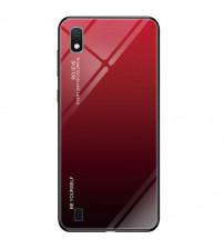 Husa Samsung Galaxy A10 Gradient Glass, Red-Black