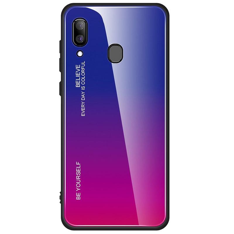 Husa Samsung Galaxy A20e  Gradient Glass, Blue-Purple - TemperedGlass.ro