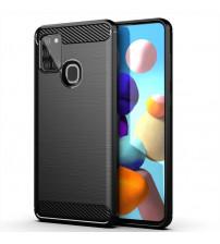 Husa Samsung Galaxy A21S Carbon TPU, Black