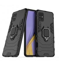 Husa Samsung Galaxy A21S Magnet Slim Ring, Black