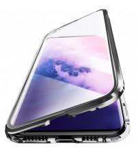 Husa Samsung Galaxy A21S Magnetic 360 (fata+spate sticla), Black