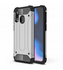 Husa Samsung Galaxy A40 Rigida Hybrid Shield, Silver