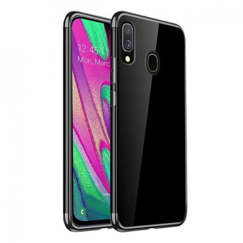 Husa Samsung Galaxy A40 TPU Elegance, Black - TemperedGlass.ro