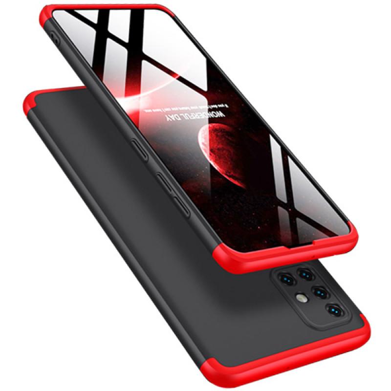 Husa Samsung A41 GKK Full Cover 360, Black-Red - TemperedGlass.ro
