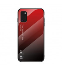 Husa Samsung Galaxy A41 Gradient Glass, Red-Black