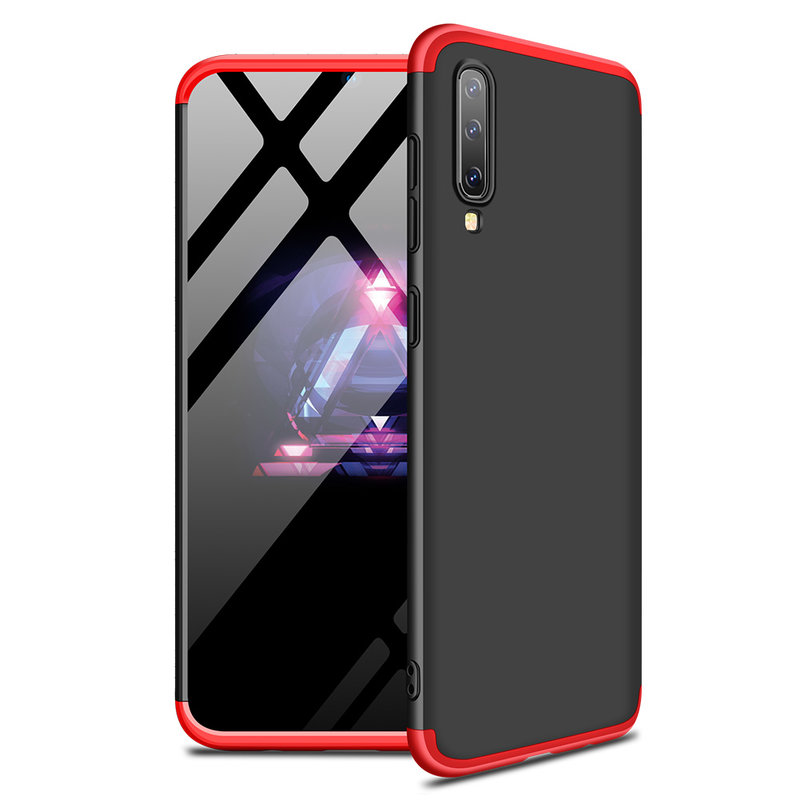 Husa Samsung A70 GKK Full Cover 360, Black-Red - TemperedGlass.ro