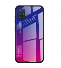 Husa Samsung Galaxy A51 Gradient Glass, Blue-Purple