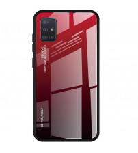 Husa Samsung Galaxy A51 Gradient Glass, Red-Black