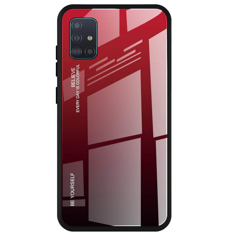 Husa Samsung Galaxy A51 Gradient Glass, Red+Black - TemperedGlass.ro
