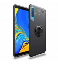 Husa Samsung Galaxy A7 2018 Magnet Round Ring, Black