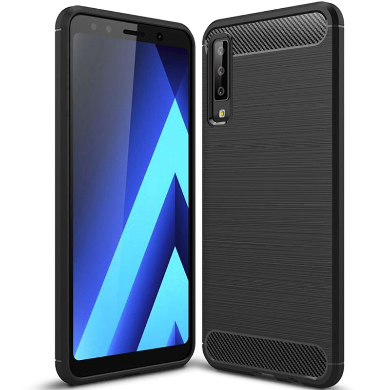 Husa Samsung Galaxy A7 2018 Slim Armor TPU, Black - TemperedGlass.ro