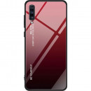 Husa Samsung Galaxy A70 Gradient Glass, Red-Black