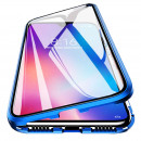 Husa Samsung Galaxy A70 Magnetic 360 (fata+spate sticla), Blue