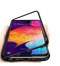 Husa Samsung Galaxy A71 Magnetic Clear-Black