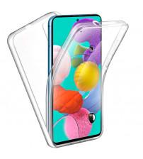 Husa Samsung Galaxy A71 TPU Full Cover 360 (fata+spate), Transparenta
