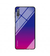 Husa Samsung Galaxy A8 Plus 2018 Gradient Glass, Blue-Purple